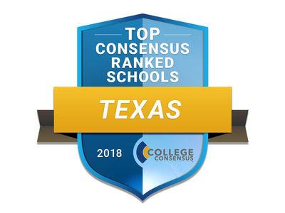 Texas College Consensus 2018 badge
