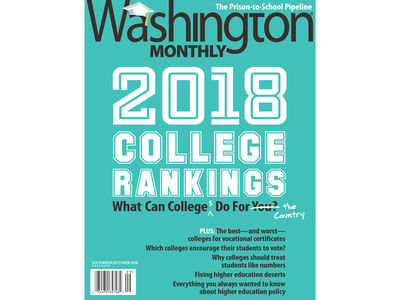 Washington Monthly College Guide Cover 2018