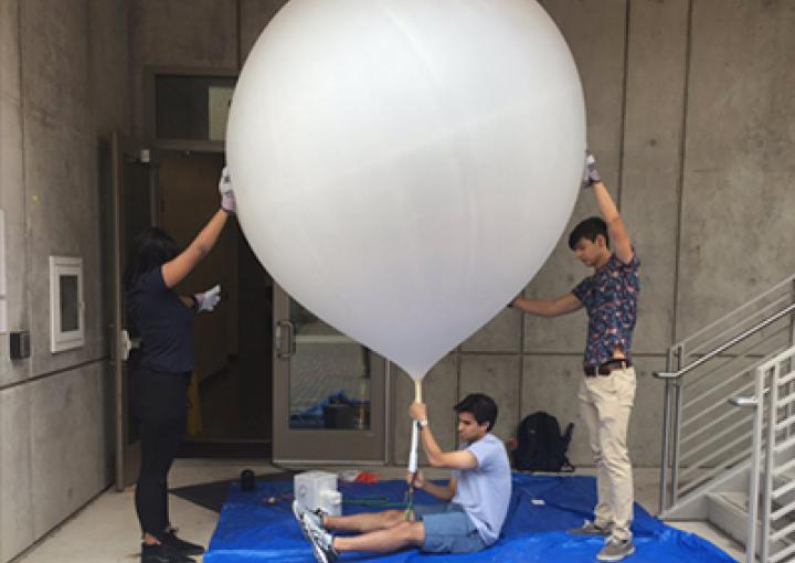 Math Students Launch Balloons into Hurricane Harvey