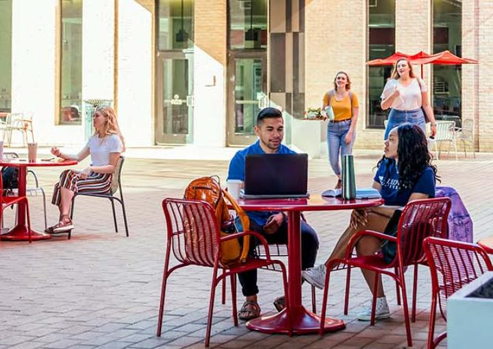 St. Edward's University students on campus - mobile