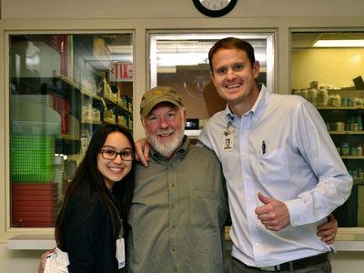 Lauren Welch '17 and Brackenridge co-workers Don Tate and Matt Biersmith.