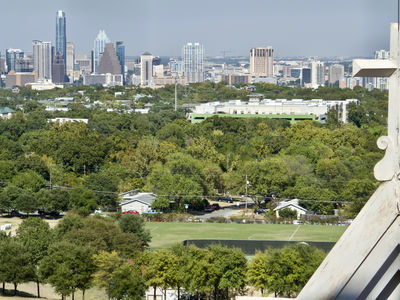 View of downtown Austin from the tower of Main Building