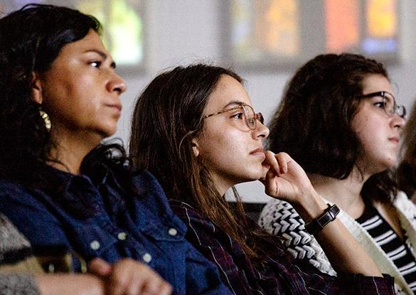 Students attending the McCarthy Lecture Series