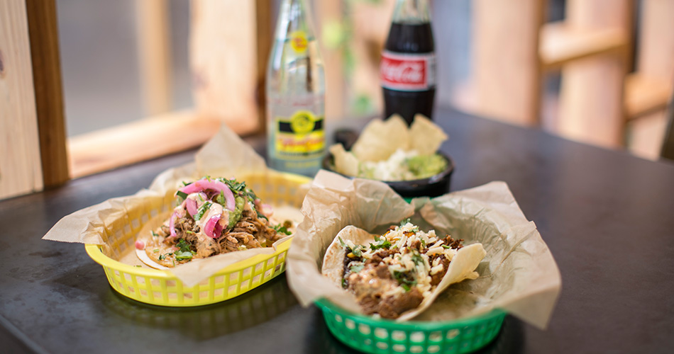 Fresh tacos and cold sodas at an Austin eatery