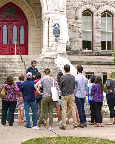 High School students tour St. Edward's